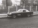 1959 Ferrari 410 Superamerica Coupe Series III by Pinin Farina - $Chassis 1305 SA pictured near Garage Cattaneo in Saint-Cloud, Paris, France in 1960.