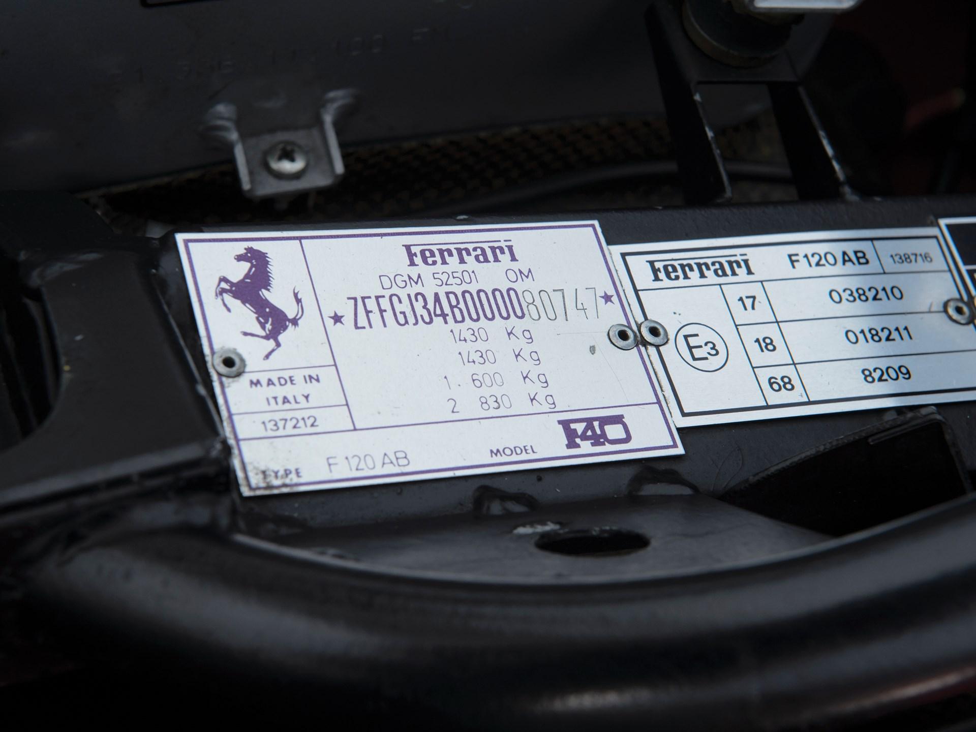 1989 Ferrari F40