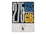 Ferrari 275 GTB/4 Owner's Manuals and Folio - $