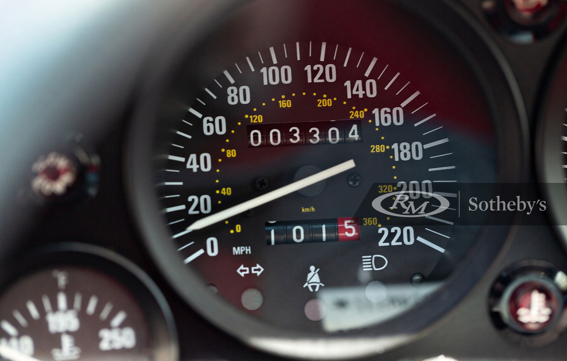 Odometer of the 1992 Ferrari F40 available at RM Sotheby's Amelia Island Live Auction 2021