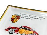 Porsche Glass Display Plate, Factory Advertising, 1962-65 - $