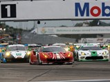 2016 Ferrari 488 GTE  - $Chassis number 4208 leads the pack en-route to a first in class finish at the 2016 12 Hours of Sebring.