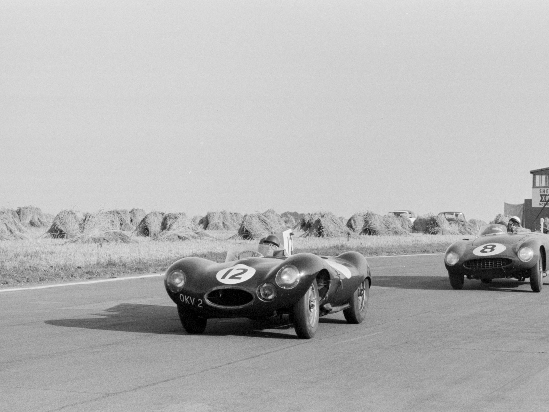 OKV2 leads a 750 Monza at the Goodwood Nine Hours in 1955.