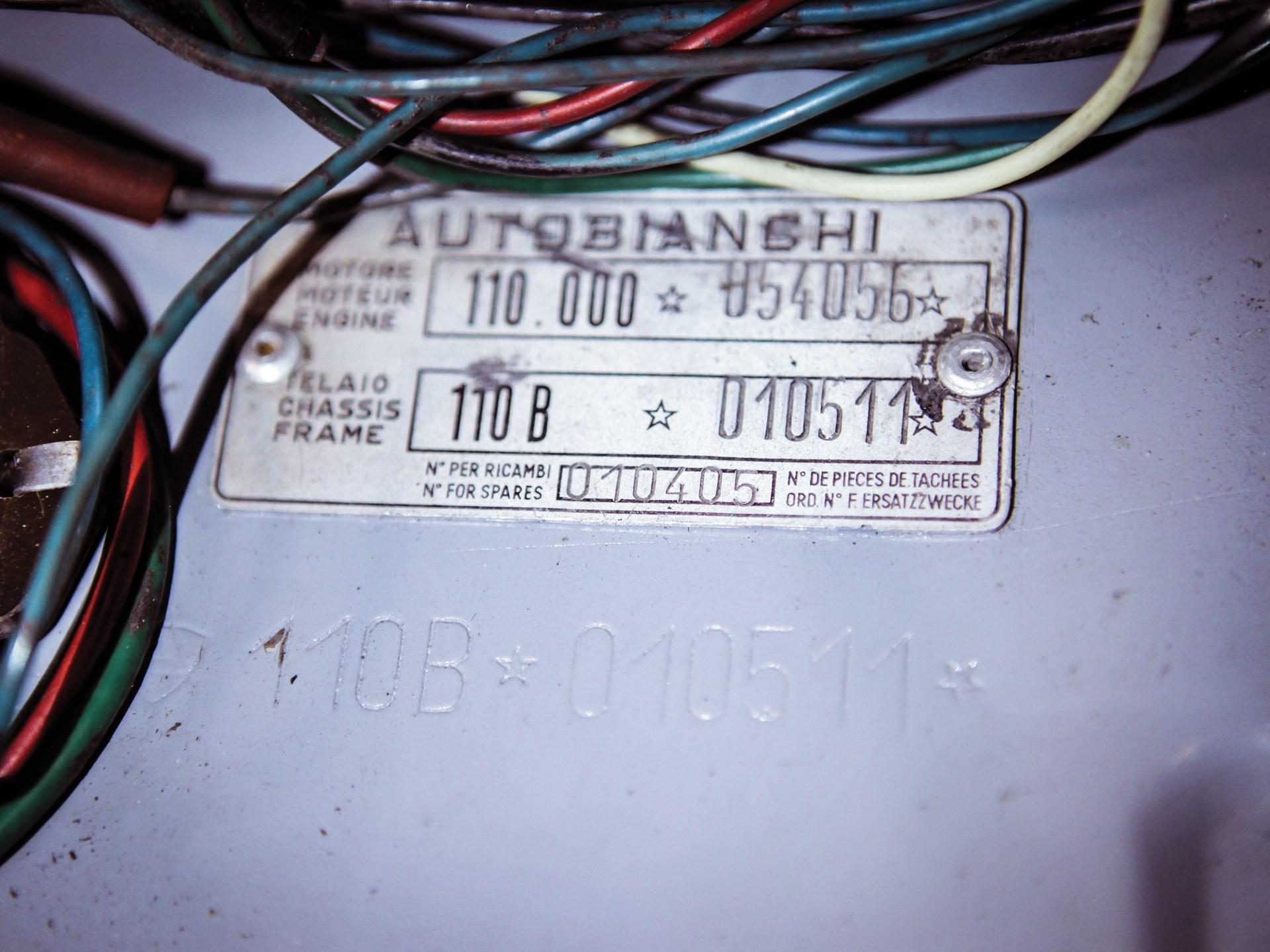 Rm Sothebys 1958 Autobianchi Bianchina Transformabile Series I Jaguar Wiring Diagram