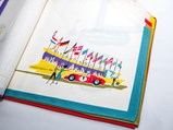 Set of Six Porsche Placemats and Napkins with Serving Plate, Factory Gifts, ca. 1962 - $