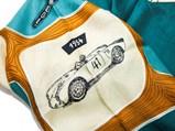 Porsche Teal Silk Scarf, Factory Gift, 1955 - $