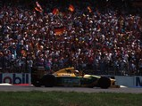 1992 Benetton B192  - $Michael Schumacher waves to the crowds after his first home Grand Prix at Hockenheim, Germany in July of 1992.