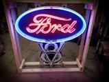 Ford V-8 Custom-Made Neon Tin Sign - $