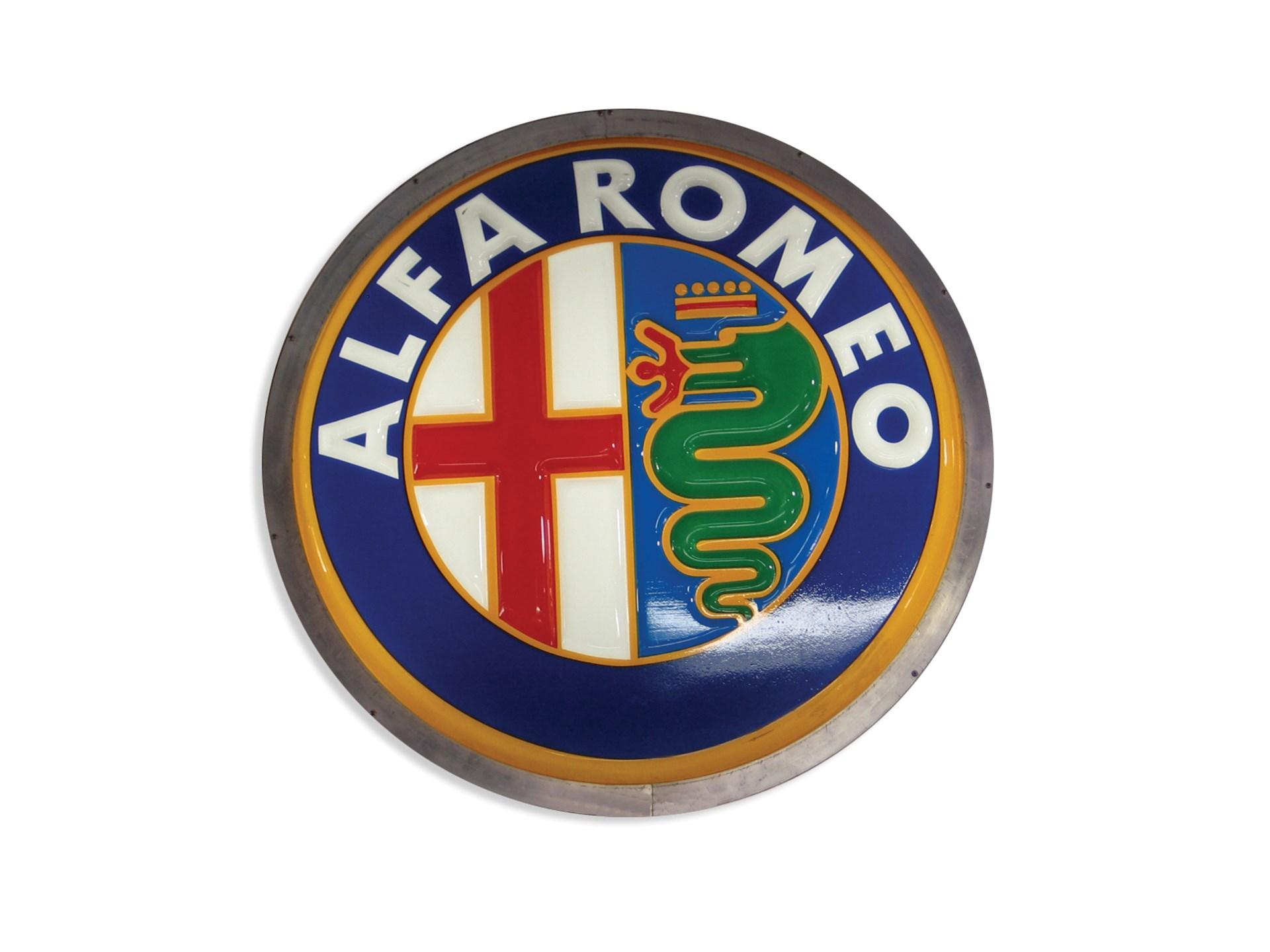 Rm Sothebys Illuminated Alfa Romeo Sign The Ponder Collection 2007 Symbol