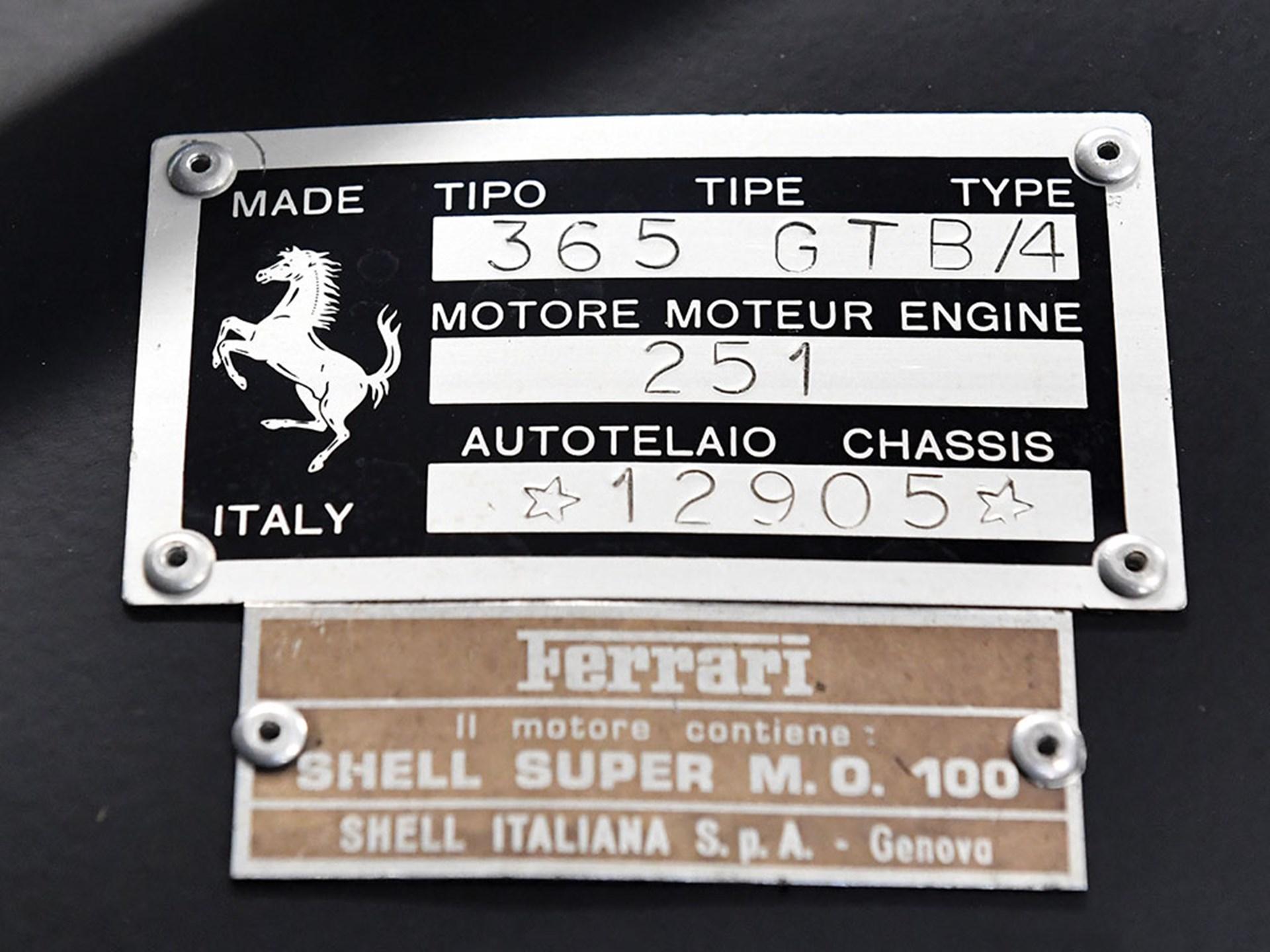 1969 Ferrari 365 GTB/4 Daytona Berlinetta 'Plexi'