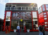 Behind the Scenes Experience with Scuderia Ferrari at a 2021 Formula 1 Grand Prix - $AUTODROMO NAZIONALE MONZA, ITALY - SEPTEMBER 05: Ferrari motorhome in the paddock with 90 Years branding during the Italian GP at Autodromo Nazionale Monza on September 05, 2019 in Autodromo Nazionale Monza, Italy. (Photo by Mark Sutton / Sutton Images)