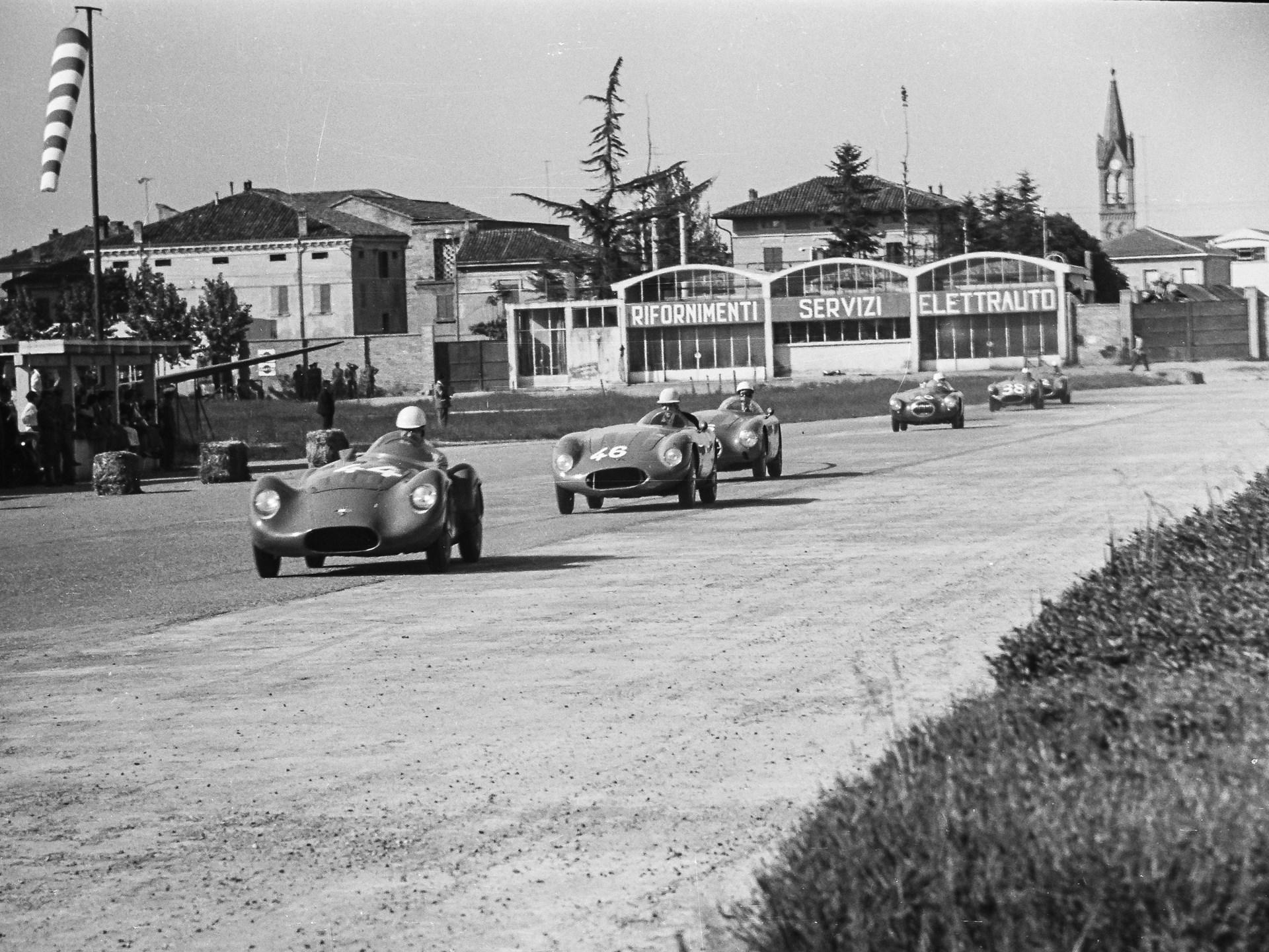 The OSCA racing in Modena in 1956.