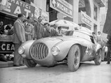 """1950 Ferrari 166 MM/212 Export """"Uovo"""" by Fontana - $The Uovo as pictured at the start of the 1951 Mille Miglia."""