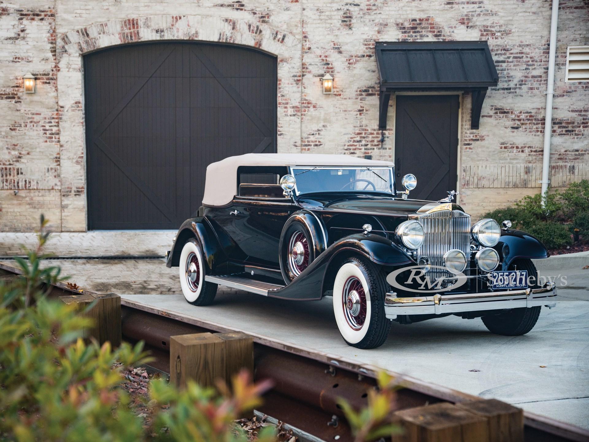 1933 Packard Twelve Convertible Victoria