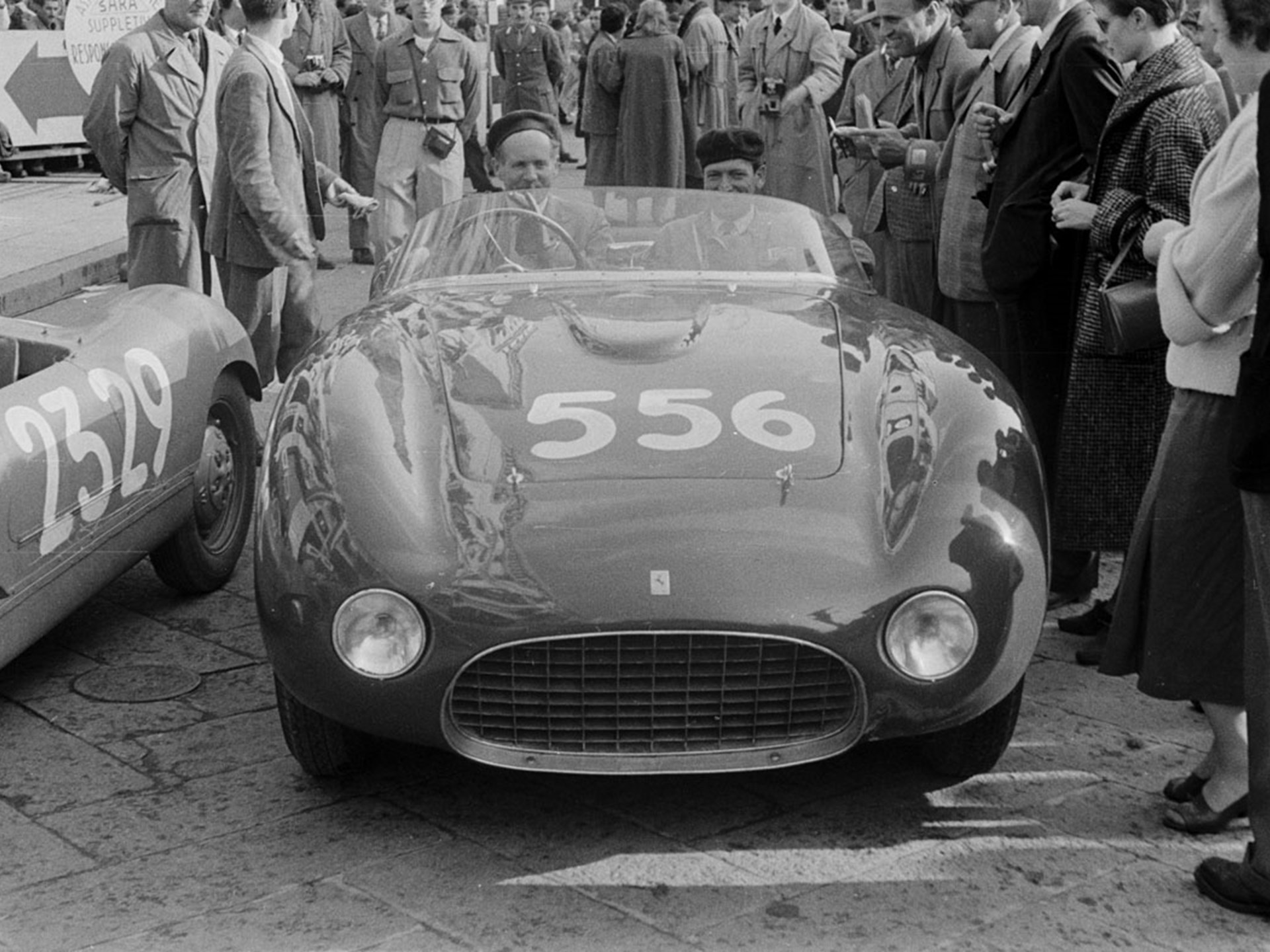 Chassis 0272 at the 1954 Mille Miglia.
