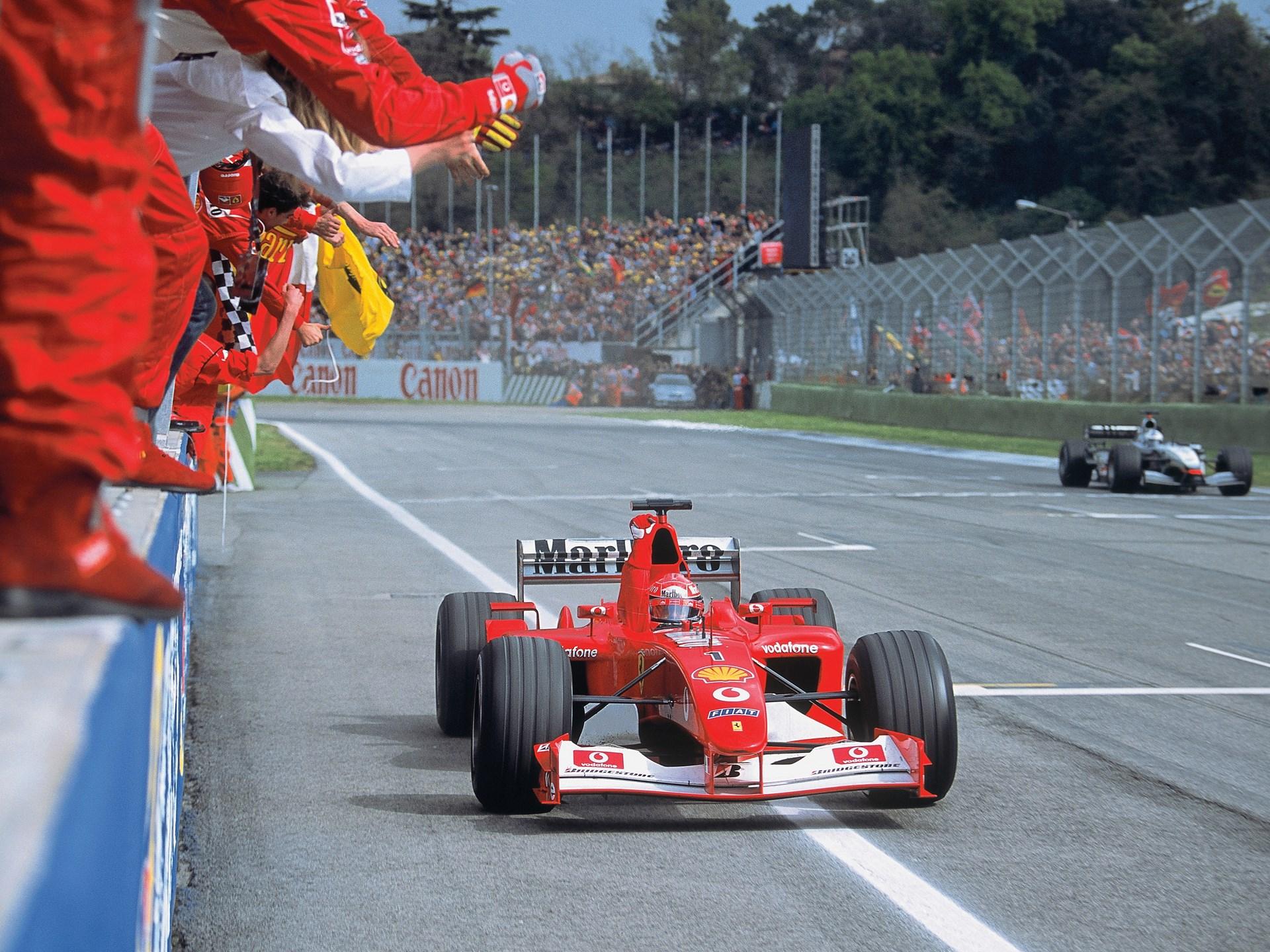 Unieke Ferrari F2002 van Michael Schumacher te koop