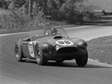 1963 Shelby 289 Cobra Works  - $Driven by Ken Miles and Bob Holbert, CSX 2129, #98, finishes 1st in class, 2nd overall, in the Road America 500, Elkhart Lake, Wisconsin, September 1963.