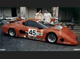 1981 Ferrari 512 BB/LM  - $The Ferrari 512 BB/LM of Scuderia Supercar Bellancauto rests in the pits with drivers Fabrizio Violati and Duilio Truffo.
