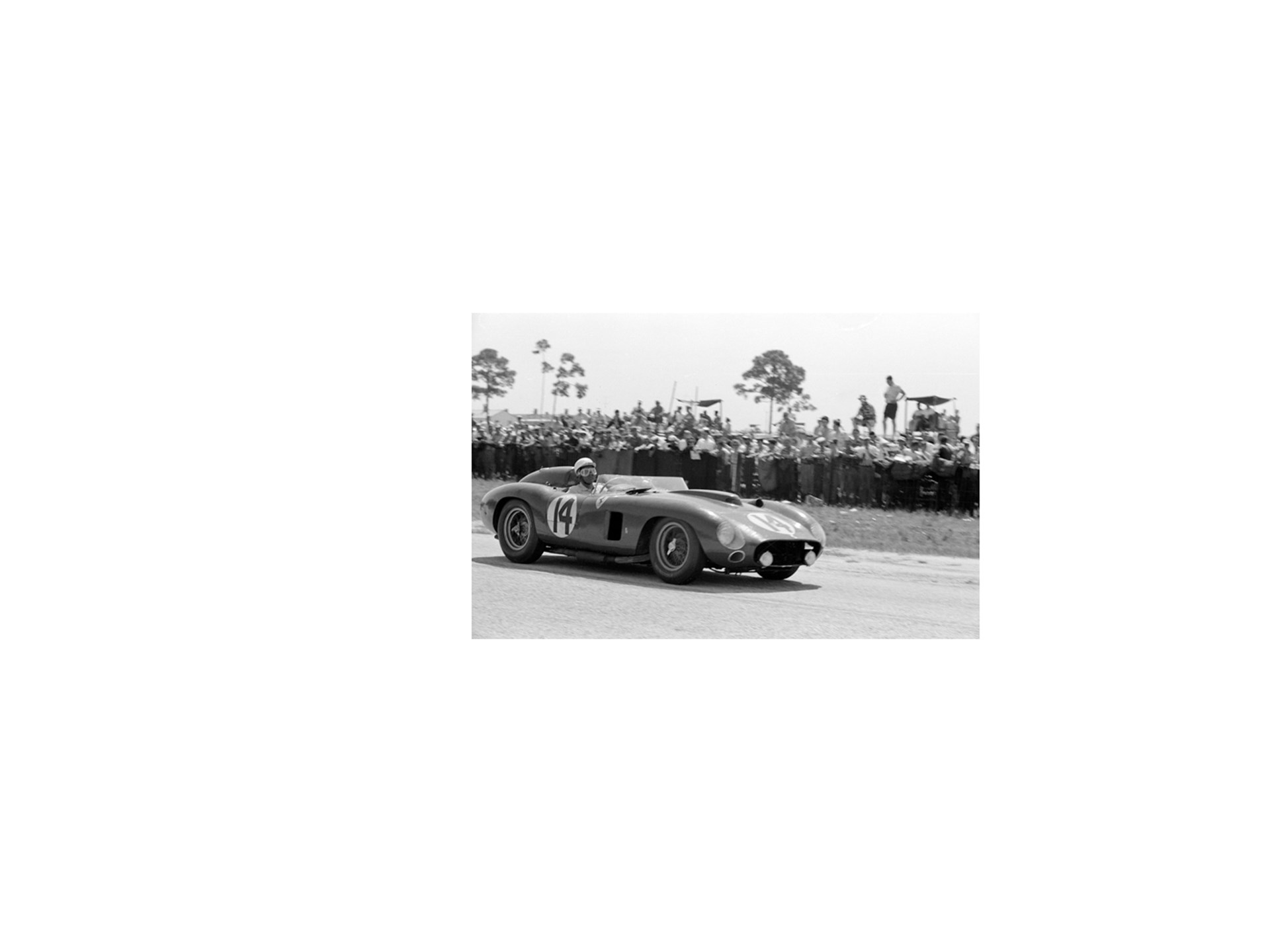 Chassis number 0628 at the 12 Hours of Sebring in March of 1957.