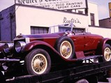 1926 Rolls-Royce Silver Ghost Piccadilly Roadster by Rolls-Royce Custom Coach Work - $The freshly restored Piccadilly Roadster in front of Reuter's Coach Works in the Bronx. Courtesy of the Reuter's Coach Works Archive.
