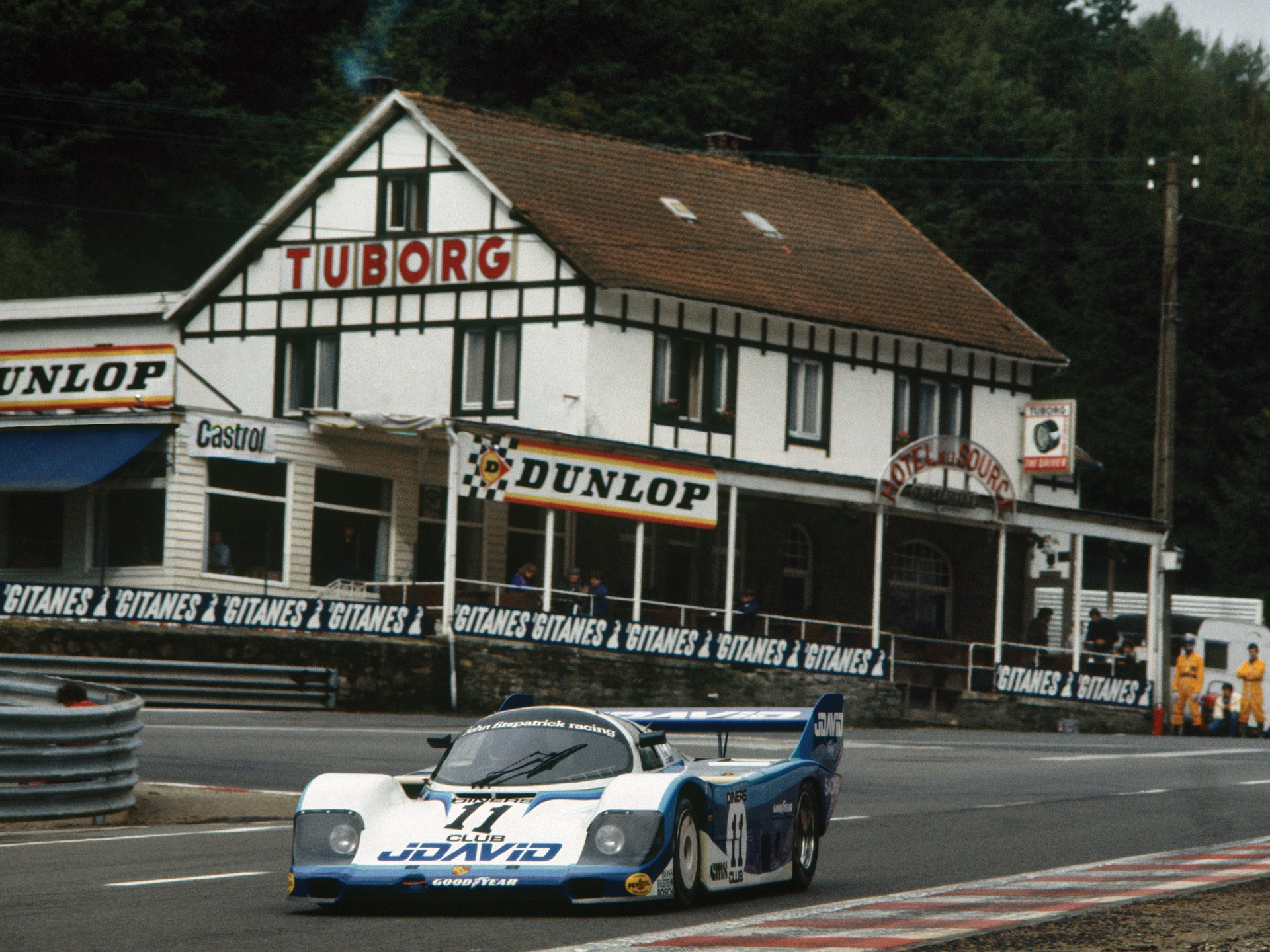 Chassis no. 956-110 at Spa-Francorchamps in 1983.