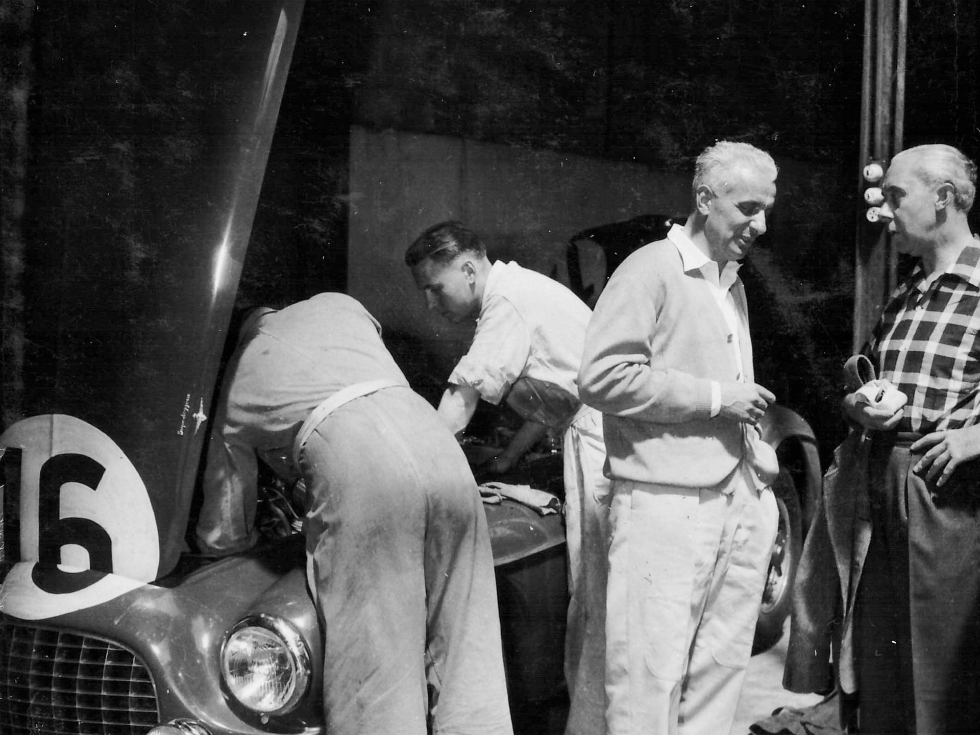 Chassis 0116/A in the paddock at Le Mans in 1952.
