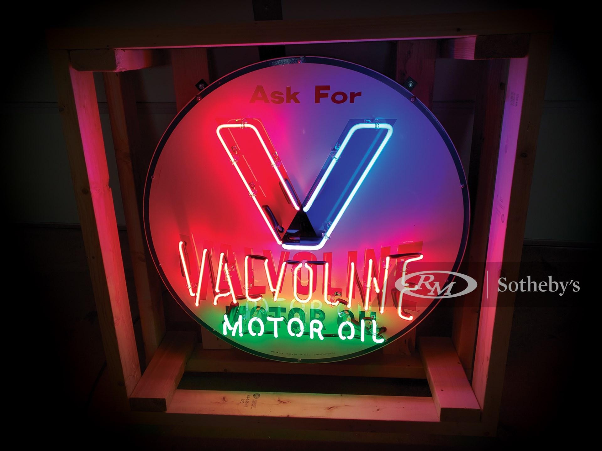 Valvoline Neon Tin Sign -