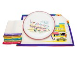 Set of Porsche Placemats and Napkins with Serving Plate, Factory Gift, ca. 1962 - $