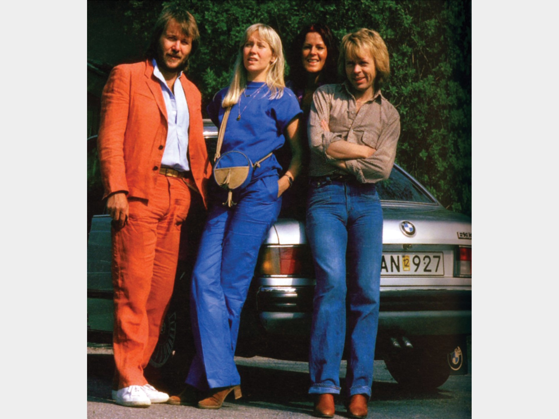 ABBA with the BMW 633 CSi.