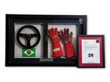 Ayrton Senna Lotus Renault 98T Signed Steering Wheel and Racing Gloves, 1986 - $