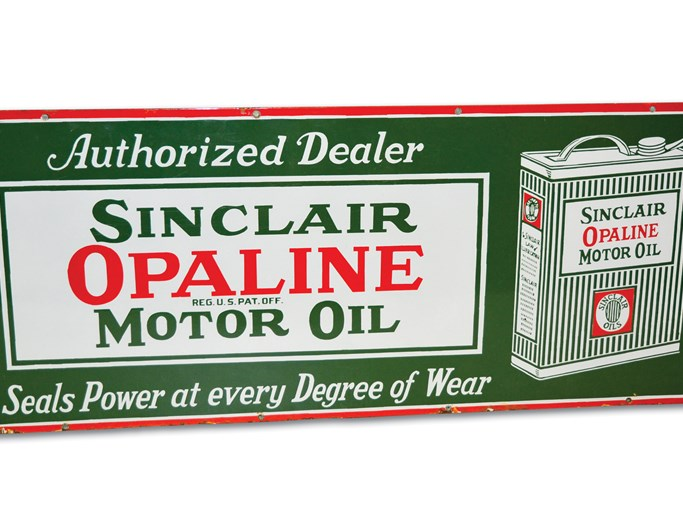 RM Sotheby's - Sinclair Opaline Motor Oil with Flat Can Logo Sign | Auburn Spring 2019