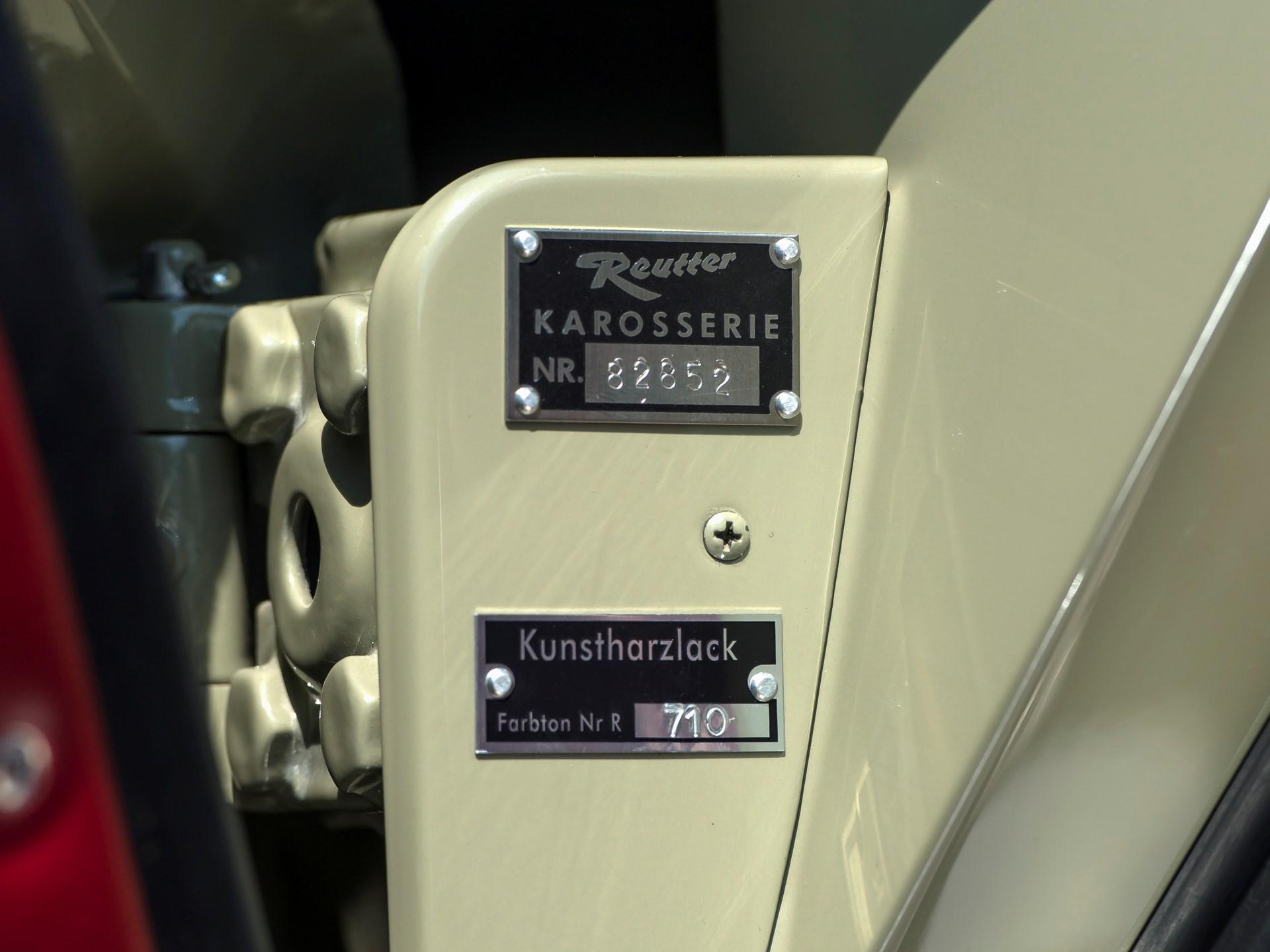 1957 Porsche 356 A 1600 Speedster by Reutter
