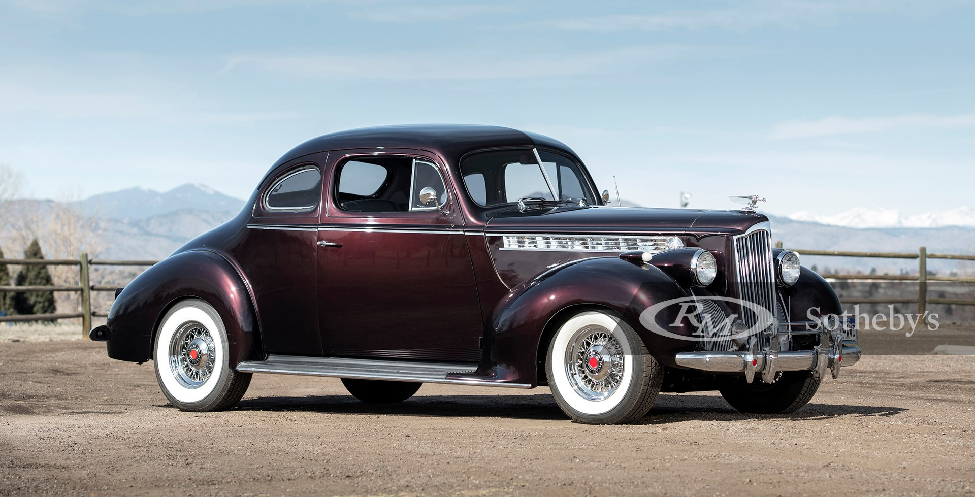 Dark Maroon 1940 Packard 110 Club Coupe Custom available at RM Sotheby's Online Only Open Roads April Auction 2021