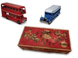 Greyhound Bus and London Double-Decker Bus Models - $