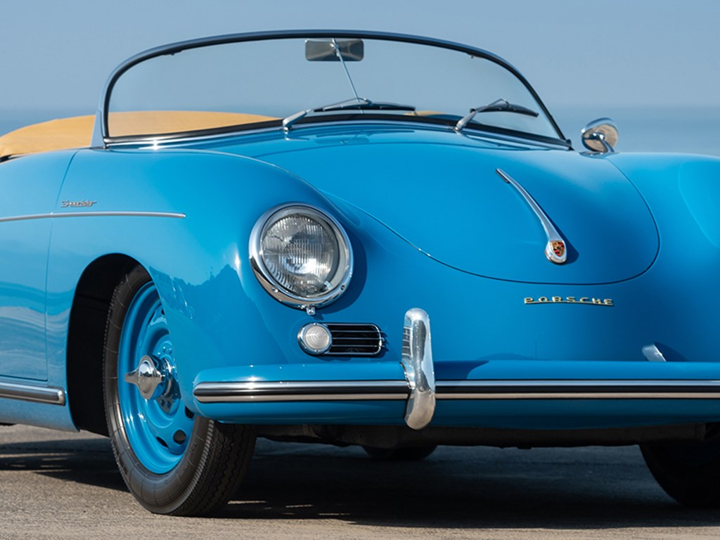 1954 Porsche 356 1500 S Speedster by Reutter Offered at RM Sothebys Monterey Live Auction 2021