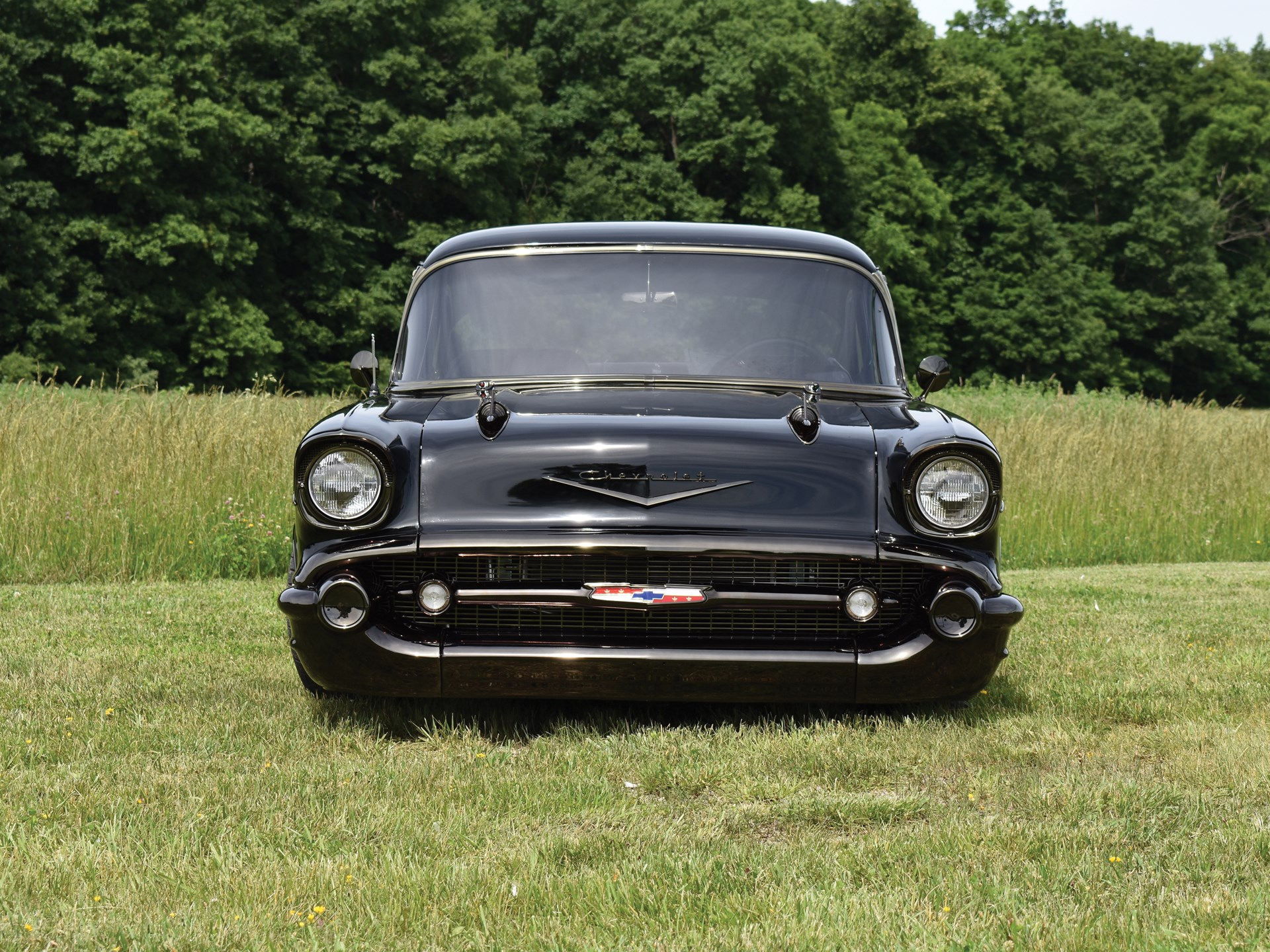 Rm Sothebys 1957 Chevrolet Bel Air Two Door Sedan Custom Auburn Painless Wiring Harness 57