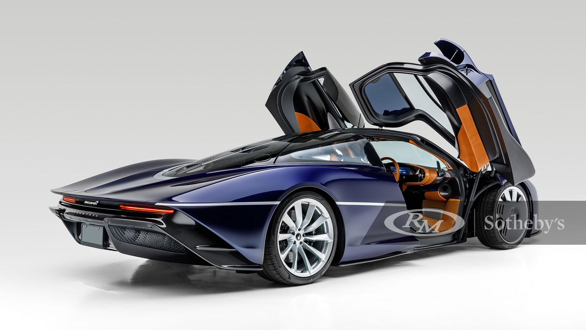 MSO Heritage Atlantic Blue 2020 McLaren Speedtail available at RM Sotheby's Arizona Live Auction 2021