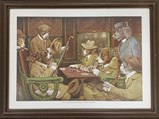 Vintage Dogs Playing Pool Tapestry - $