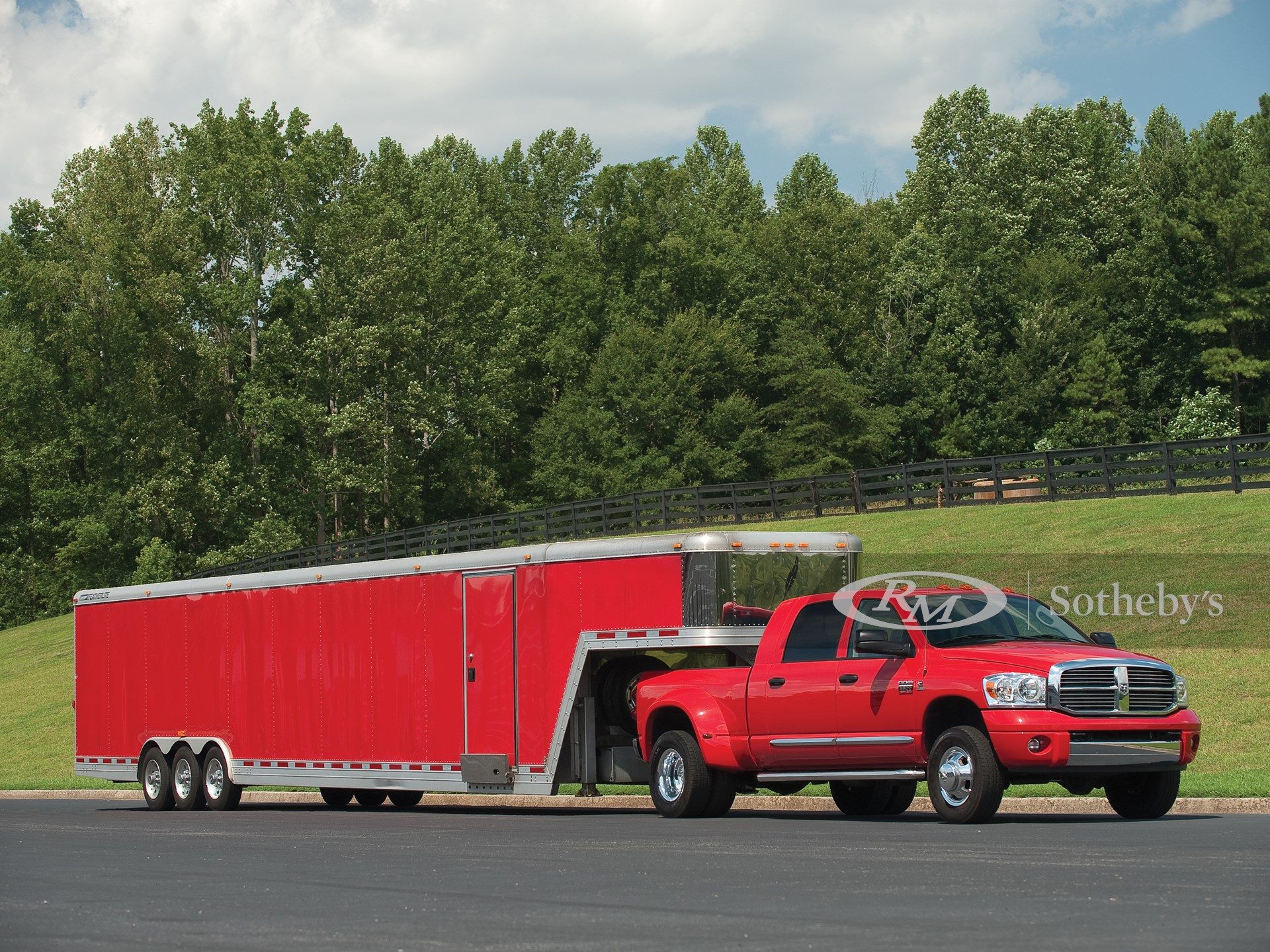 2008 Dodge RAM 3500 Mega Truck & Featherlite Aluminum