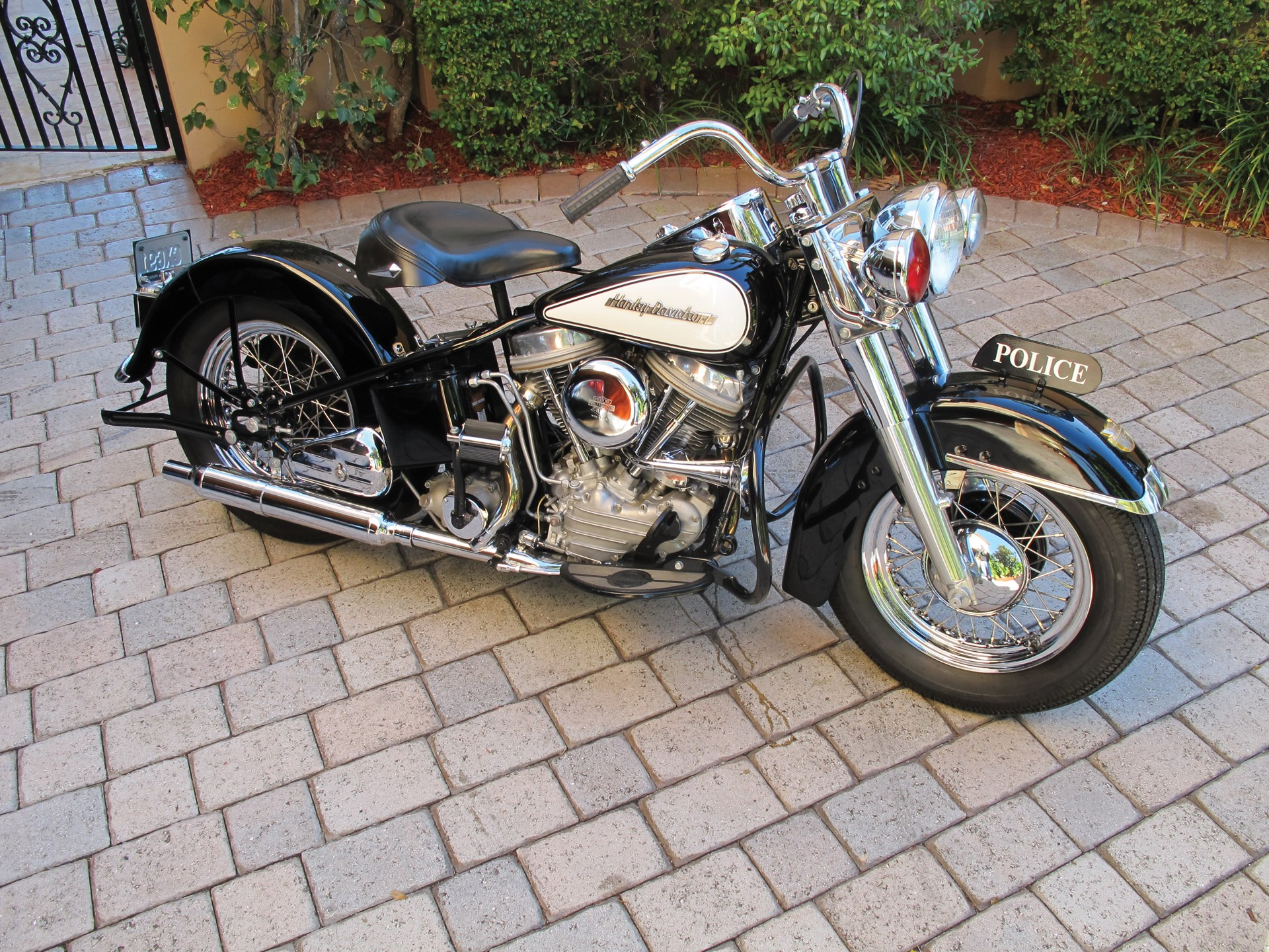 Rm Sotheby S 1954 Harley Davidson Fle Police Bike Amelia Island 2011