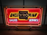 Chevrolet Sales and Service Custom-Made Neon Tin Sign - $