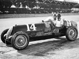 1935 Alfa Romeo Tipo C 8C 35  - $Rex Mays and mechanic Lawson Harris compete in 50012, whose engine is now in the Giddings 8C 35, at the 1937 Indianapolis 500.