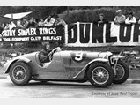 1936 Delahaye 135 S Compétition Court in the style of Chappe Frères - $Géo Field at the Tourist-Trophy at Belfast in September of 1936.