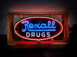 Rexall Drugs Neon Porcelain Sign - $