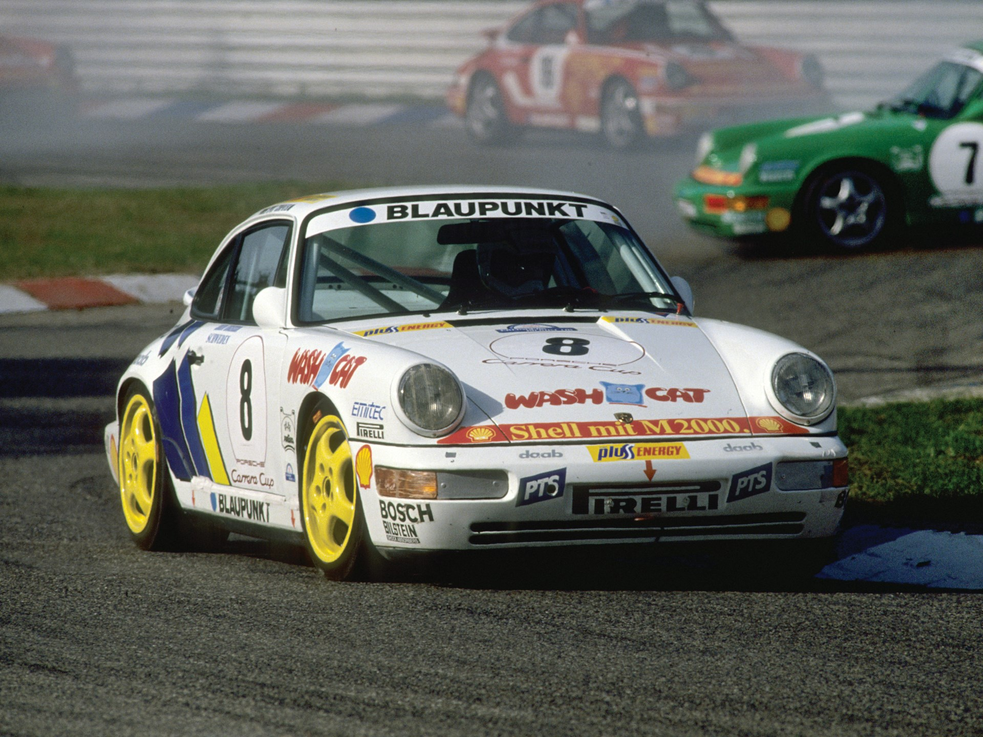 The 911 Carrera Cup at Hokenheim in October of 1990.