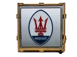 Maserati Lighted Sign with Original Wooden Crate - $