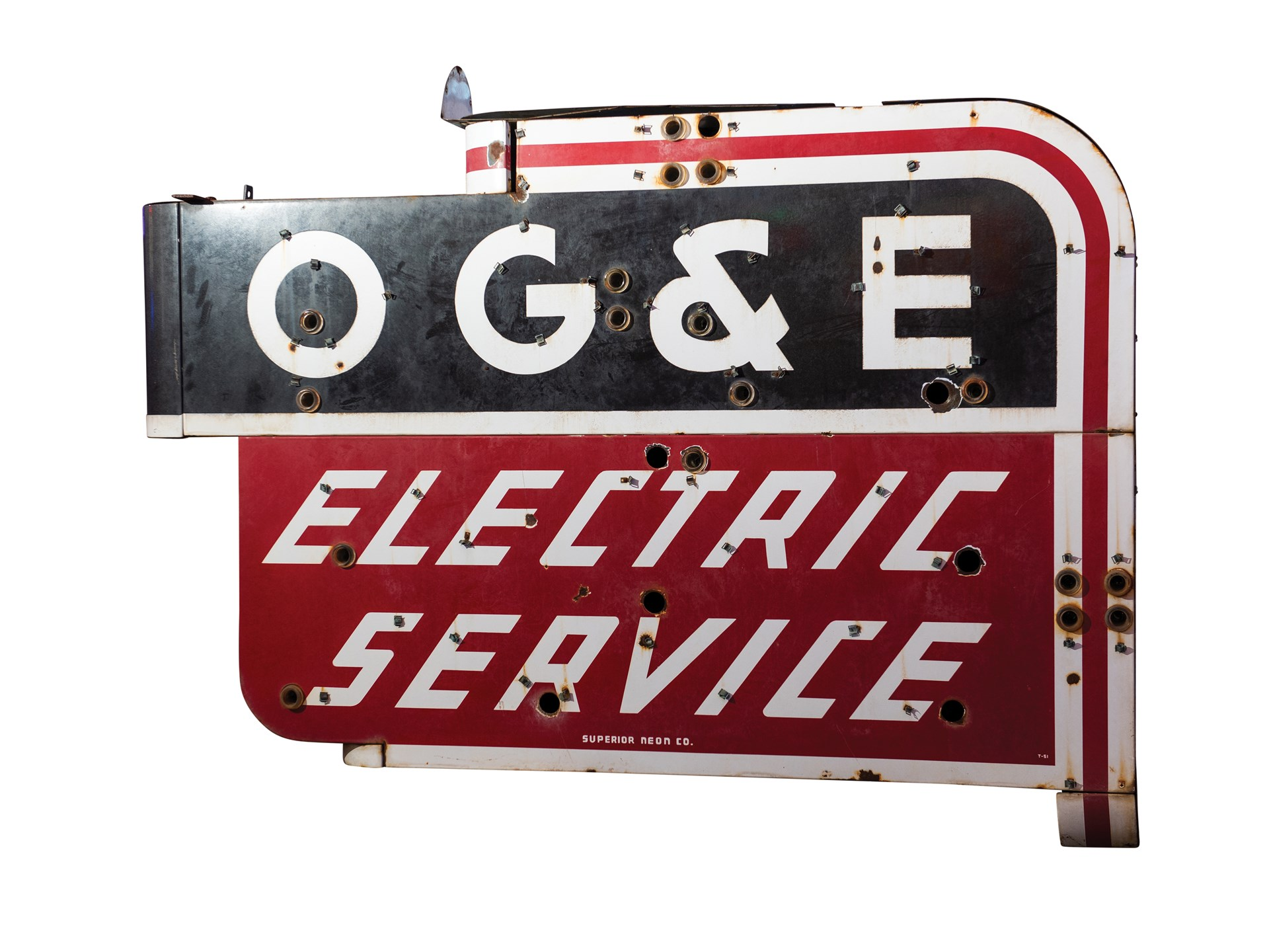 oge electric service double sided neon sign project