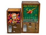 """""""Race to the Moon"""" and """"Help the Blind"""" Victor Gumball Machines - $"""