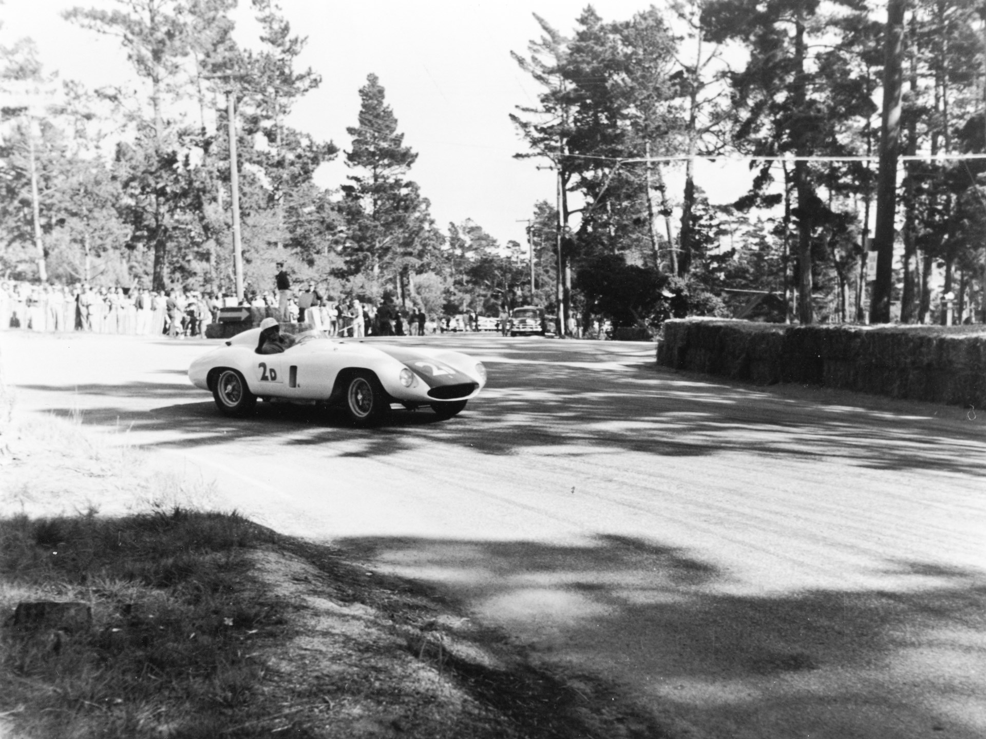 Chassis no. 0510M at Pebble Beach in 1955, where it placed 1st overall in the Del Monte Trophy race.