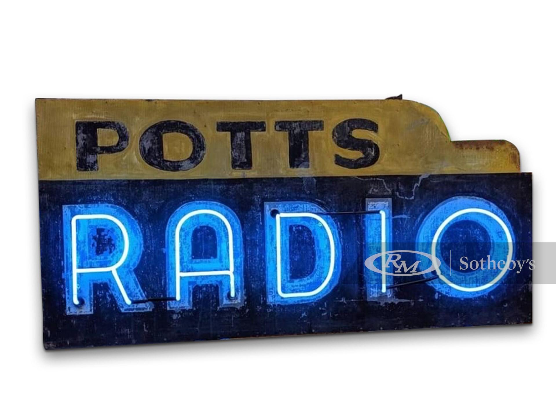 Potts Radio Double-Sided Neon Sign -